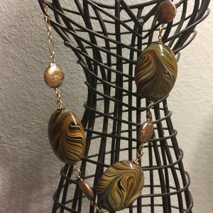 Jewelry - Swirly Rocks 14/20 KT GF Choker Necklace
